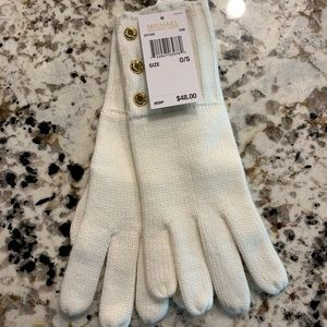 Brand New Cream Colored Micheal Kors Gloves.